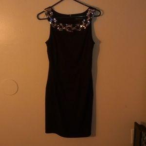 Black rinstone dress